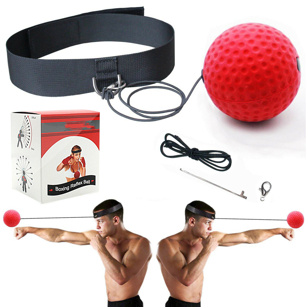 Boxing Training Fight Ball Head Band Reflex Speed Punch Combat Muscle Exercise