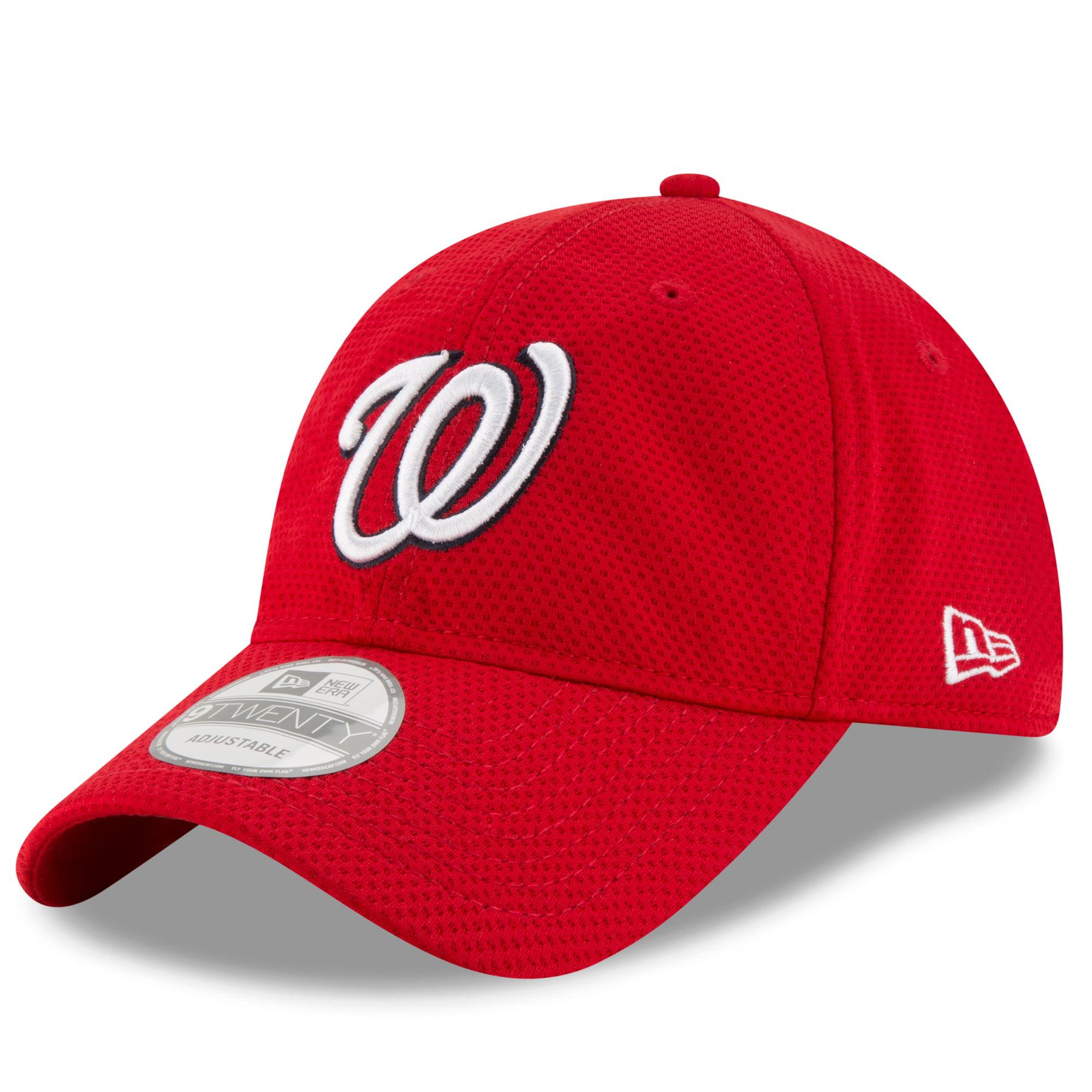 Washington Nationals New Era Shore Performance 9TWENTY Adjustable Hat - Red - OSFA