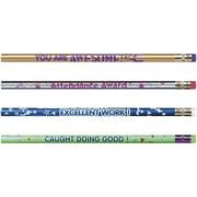 Moon Products Motivational Message Design Pencil Pack, 144 / Box (Quantity)