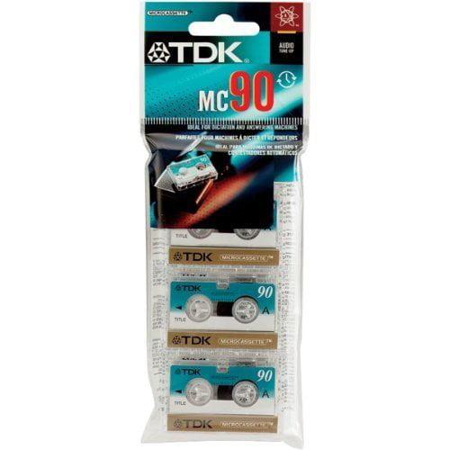 TDK MC-90 Microcassette tape 3PK