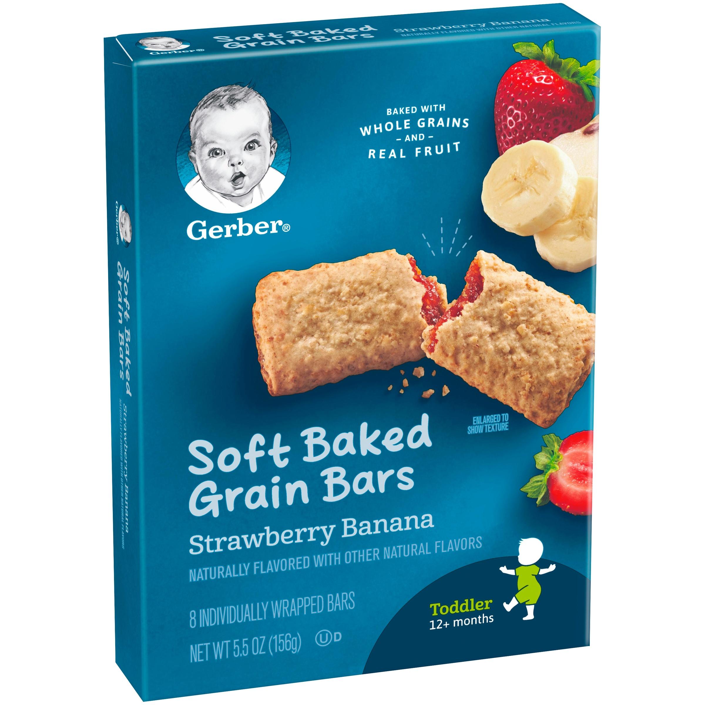 Gerber Cereal Bars Strawberry Banana 5 5 oz Walmart