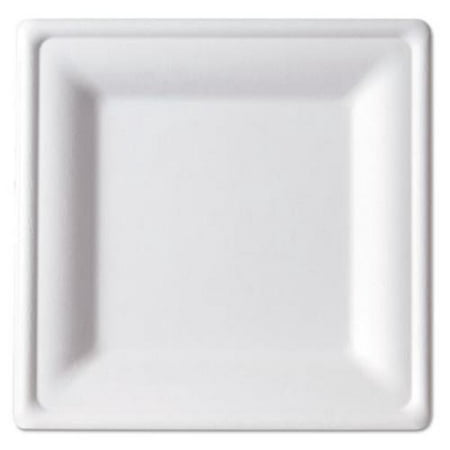 Eco Products EP-P022 Renewable & Compostable Square Sugarcane Plates - Medium, 50/pk, 10