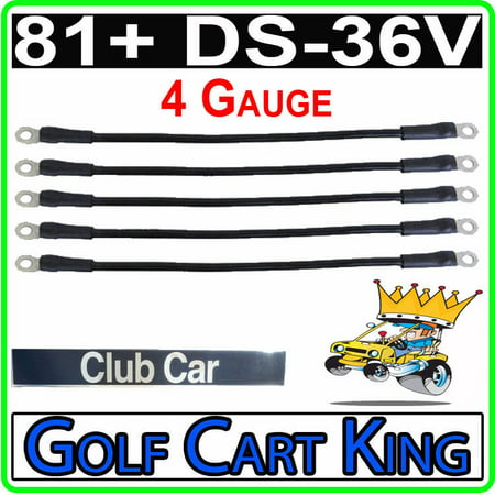 Club Car DS 81+ Golf Cart - Battery Cable Set (4