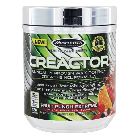 Muscletech Products - Creactor Créatine Formula Performance Series Fruit Punch Extreme 120 Portions - 9,51 oz