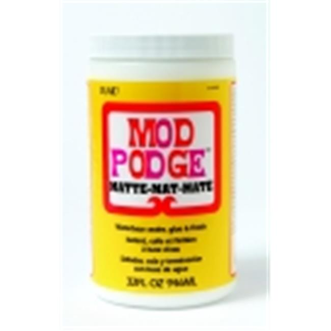 Mod Podge Non-Toxic Non-Flammable Tissue Glue And Glaze - 1 Qt.  Jar, Matte