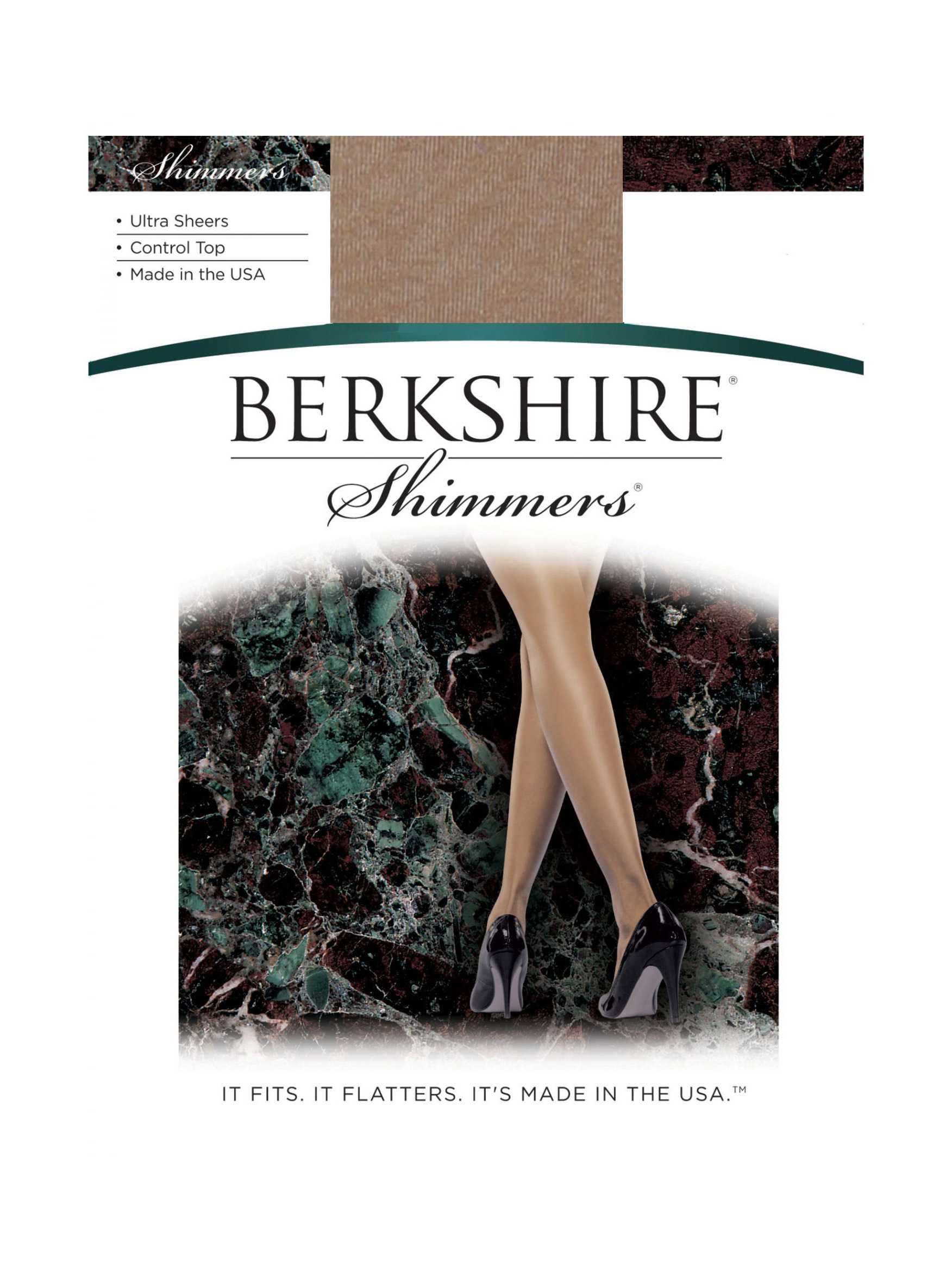 Berkshire Women's Shimmers Ultra Sheer Control Top Pantyhose - Sandalfoot 4429