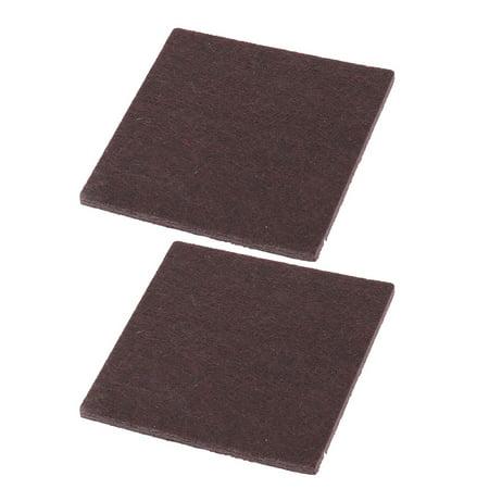 - Felt Square Sofa Cupboard Leg Protector Mat Pad Chocolate Color 85mm x 85mm 2pcs