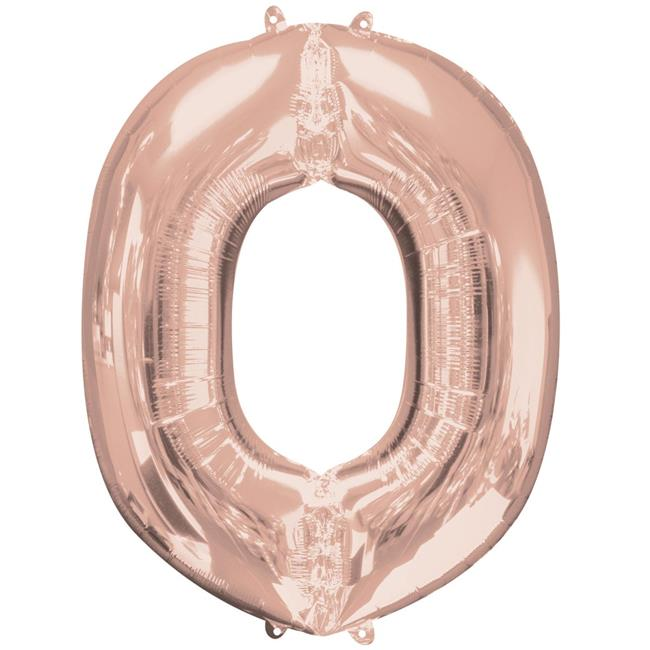 Anagram 89767 37 in. Letter O Rose Gold Balloon - image 1 de 1