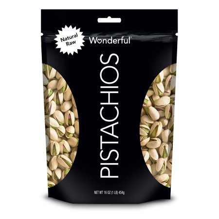 Wonderful Pistachios, Natural Raw, 16 Ounce Resealable Pouch](Pistachio Green)