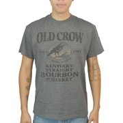 Jim Beam Bird Logo Old Crow Since 1835 Graphic Printed Men's T-shirt, Charcoal