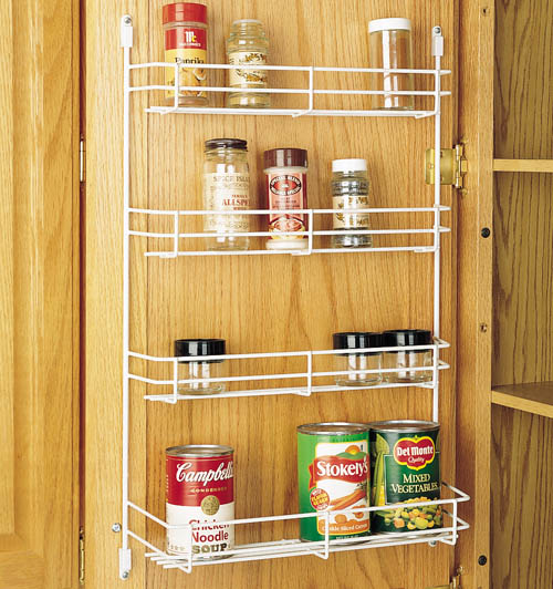 "Cabinet Door Spice Racks Metal Spice Racks, White Wire Finish 10-5 8""W x 4-1 8""D x 21-3 8""H... by"