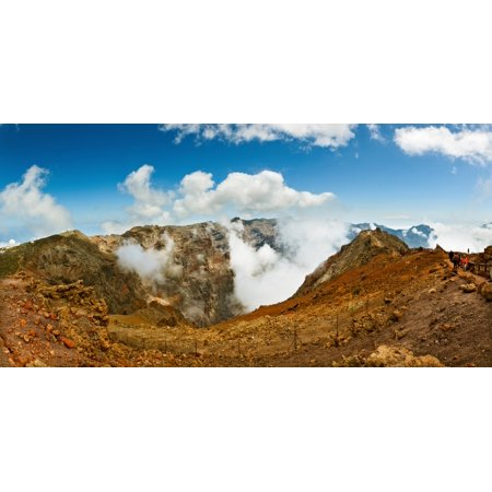 Mountain Peak Surrounded With Clouds Caldera De Taburiente National Park La Palma Canary Islands Spain Canvas Art   Panoramic Images  36 X 12