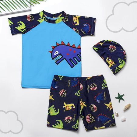 Toddler Kids Boy Dinosaur Printed Swimwear Swimsuit Bathing Suit Clothes Set - Dinosaur Suit Rental