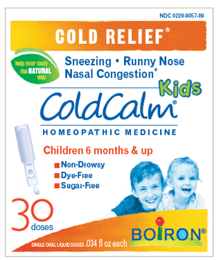 Boiron Coldcalm Kids, 30 Doses. Kids Cold Relief Drops for Sneezing, Runny Nose, and Nasal Congestion, Sterile Single-use Liquid Oral Doses