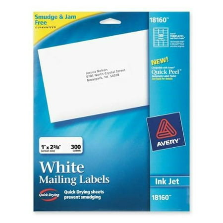 Adress Up (Avery Address Ink Jet Labels, 1 x 2-5/8 Inches, White, 30 Up, 10 Sheets)