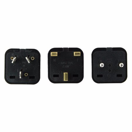 International Electricity Travel Adapter Plug Set Kit UK EU CHINA ISR HK IRELAND
