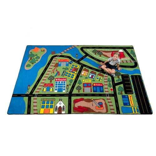 Kid Carpet Total Transportation Play Town Area Rug