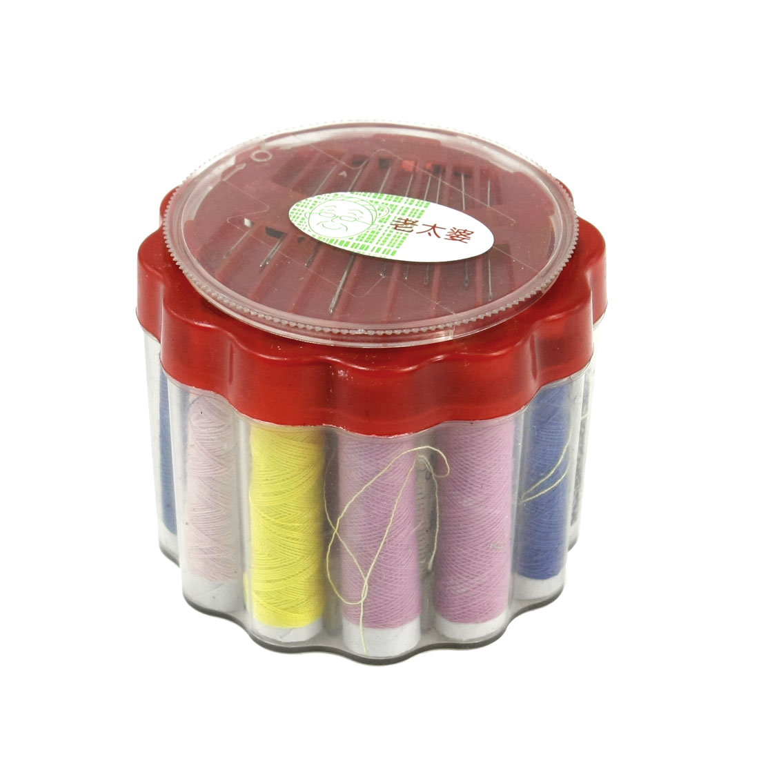 Family Sewing Kit Multicolor Thread Roller Needle Measuring Tape Set
