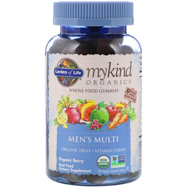 Garden Of Life Mykind Organics Men S Multi Organic Berry 120 Vegan Gummy Drops Walmart Com Walmart Com