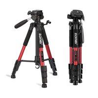 "55"" Aluminum Alloy Camera Tripod for DSLR Canon Nikon Sony DV Video and Smar"