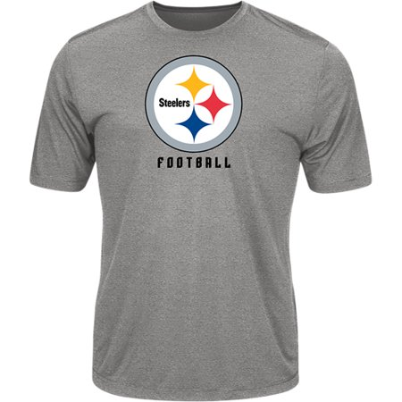 Men's Majestic Heathered Gray Pittsburgh Steelers Proven Winner Synthetic TX3 Cool Fabric T-Shirt](Steelers New Helmet)