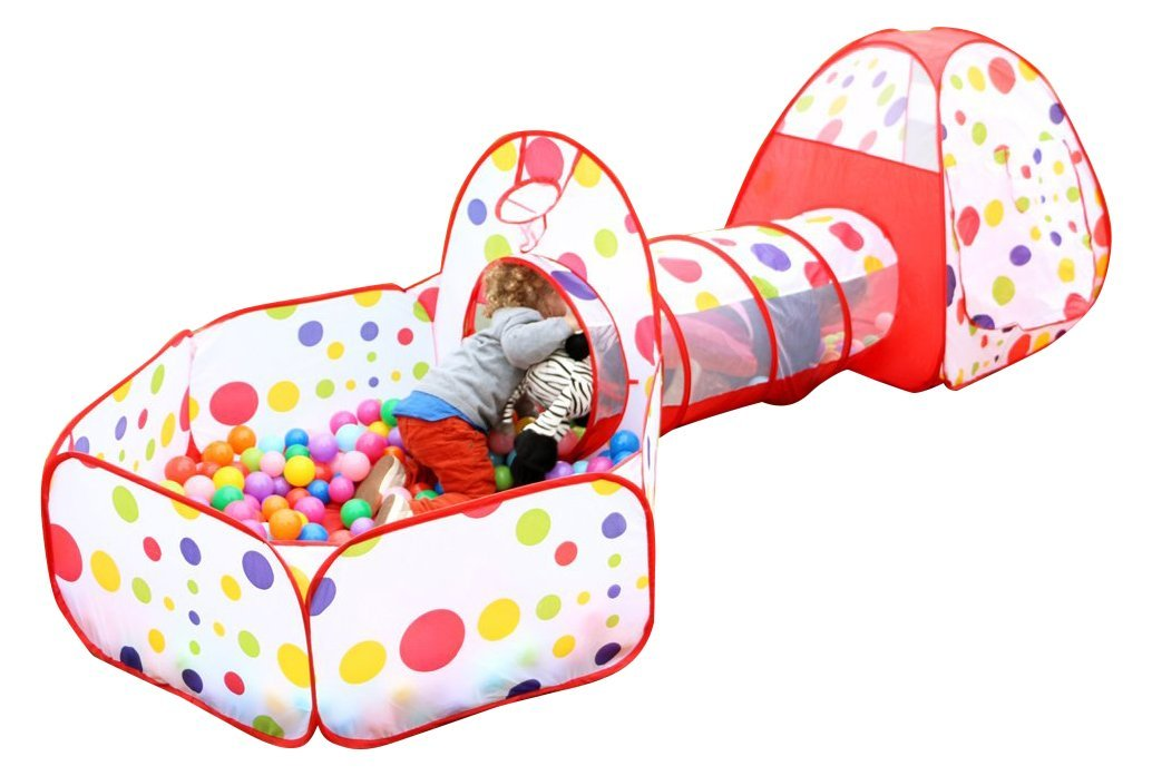 HURRISE Polka Dot Children Play Tent With Tunnel 3-in-1 Playhut Hours of  sc 1 st  Walmart & HURRISE Polka Dot Children Play Tent With Tunnel 3-in-1 Playhut ...