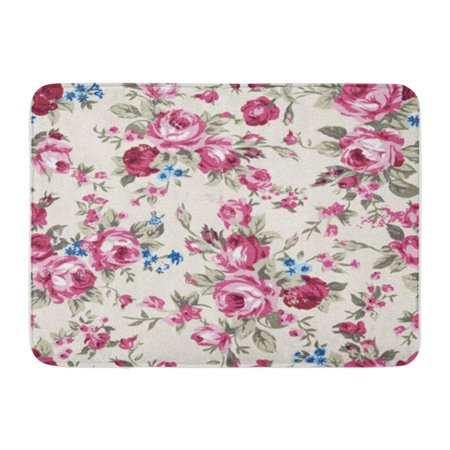 KDAGR Shabby Chic Granny Vintage Chintz Roses in Seamlessly Pattern Raster Doormat Floor Rug Bath Mat 23.6x15.7 inch