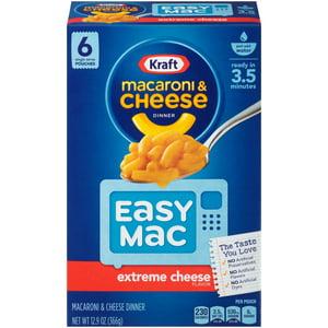 Kraft Easy Mac Extreme Cheese Flavor Macaroni & Cheese Dinner 6 ct Box