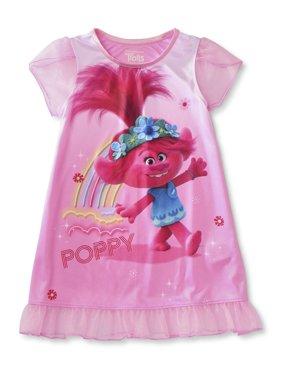 Trolls Toddler Girl Short Sleeve Nightgown Pajamas