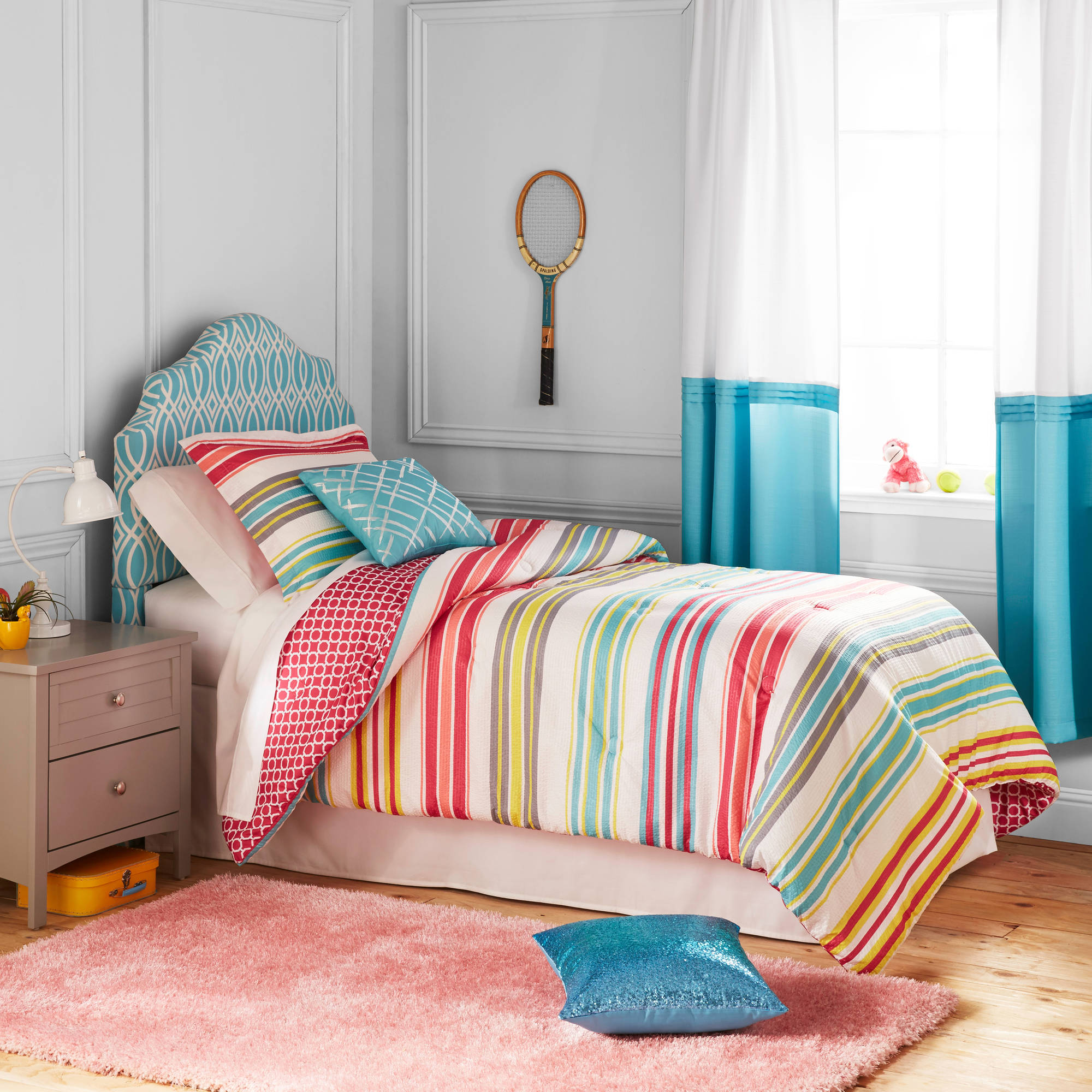 Better Homes and Gardens Kids Candy Stripe Bedding Comforter Set