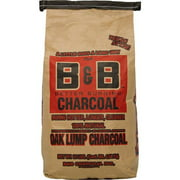 B&B Charcoal 8684193 10 lbs Oak Hardwood Lump Charcoal
