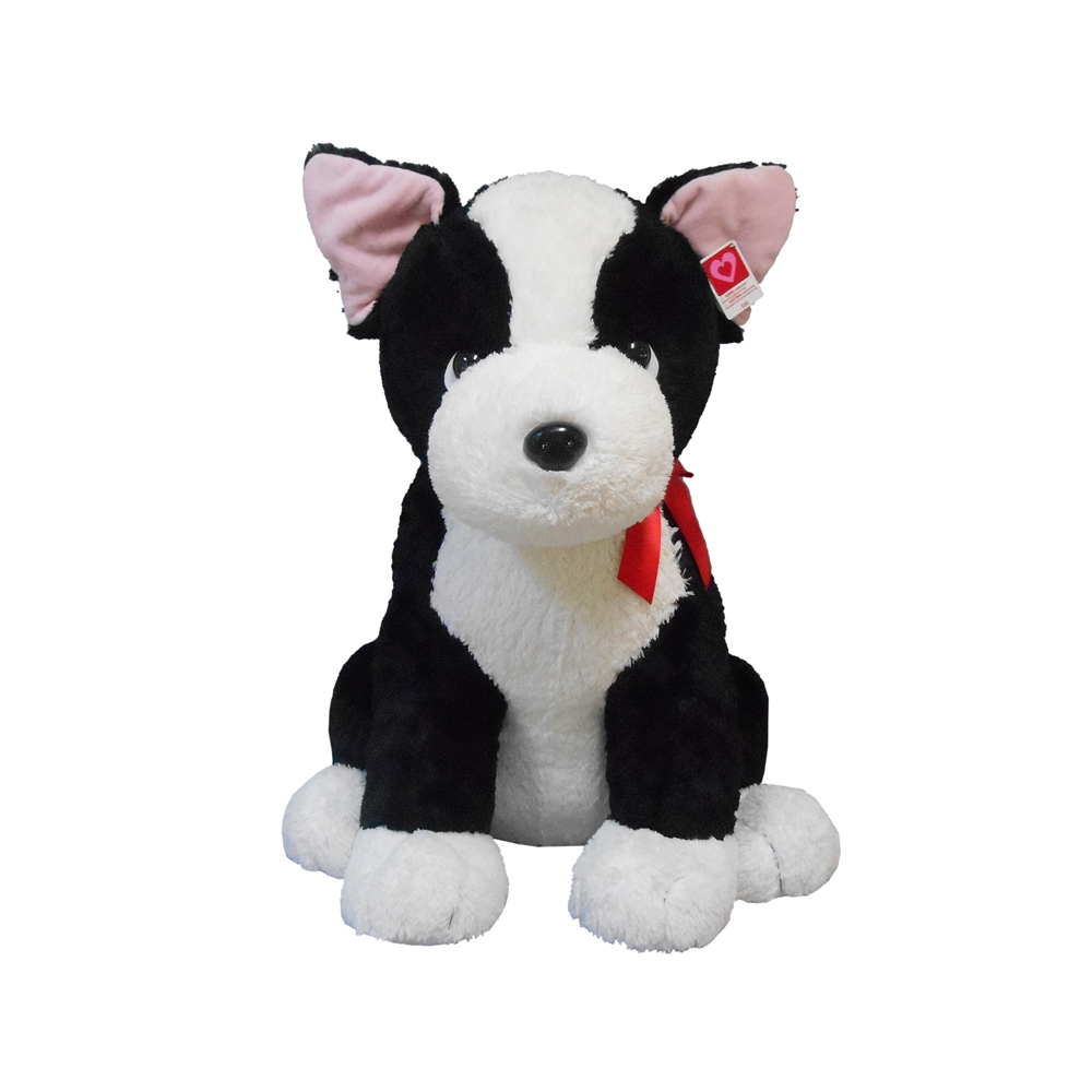 Valentine's day jumbo 3ft boston terrier puppy plush Gift