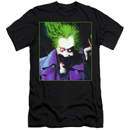 Batman & Arkham Asylum Joker-HBO Short Sleeve Adult 30-1 T-Shirt, Black - Large - image 1 de 1