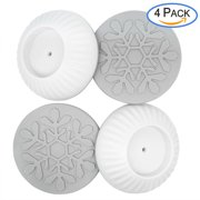 baby gate wall protector, 4 pack universal strong grip wall protector guard cups pads for dog gates walk through pressure mounted gates, make of non-toxic rubber