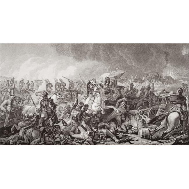 Waterloo. The Decisive Charge of The Guards 18 June 1815 Engraved by W M Poster Print, Large - 40 x 20 - image 1 de 1