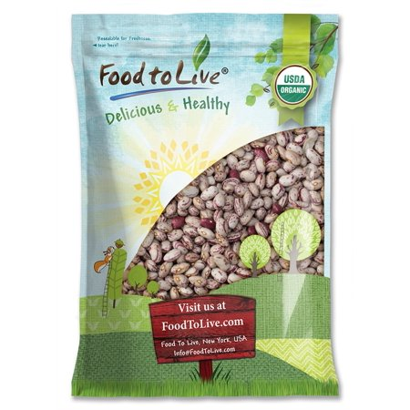 Organic Cranberry Beans, 10 Pounds - Dried Borlotti Beans, Non-GMO Seeds, Raw Romano Beans in Bulk, Product of the USA - by Food to (Borlotto Bean)