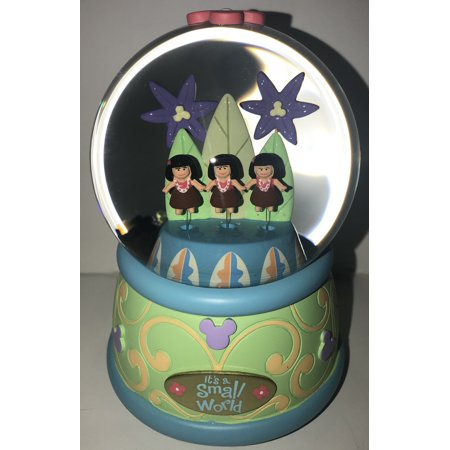 Disney Parks It's A Small World Musical Snowglobe Snow Globe Resin New ()