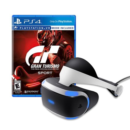 Playstation Vr Headset With Gran Turismo Sport
