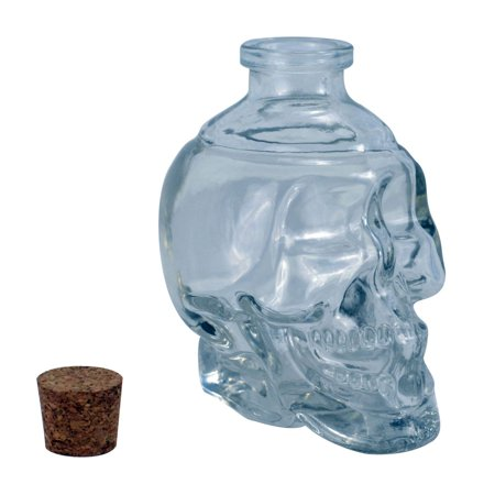 Glass Decanter (Fairly Odd Novelties Glass Skull Decanter - FILL it UP w/ Wine, Beer or Liquor)