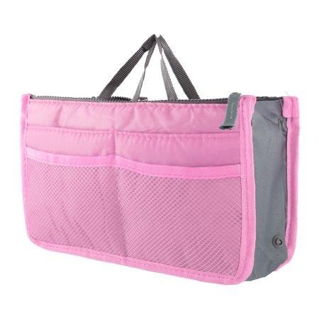 Unique BargainsOrganizer Large Travel Toiletry Wash Cosmetic Bag Makeup Storage Case Bath (Pink Travel Case)