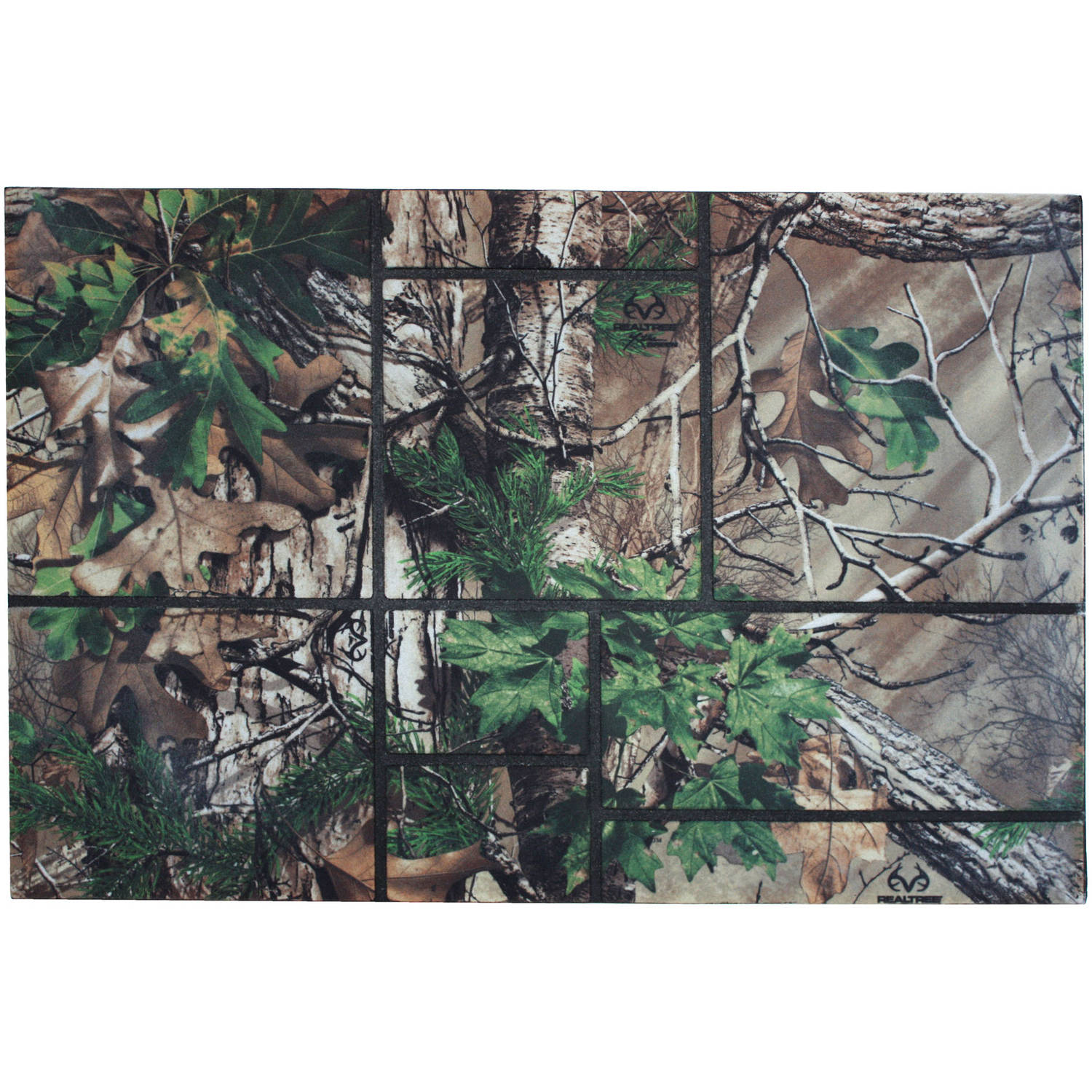 J & M Home Fashions Realtree Xtra® Windowpane Doormat