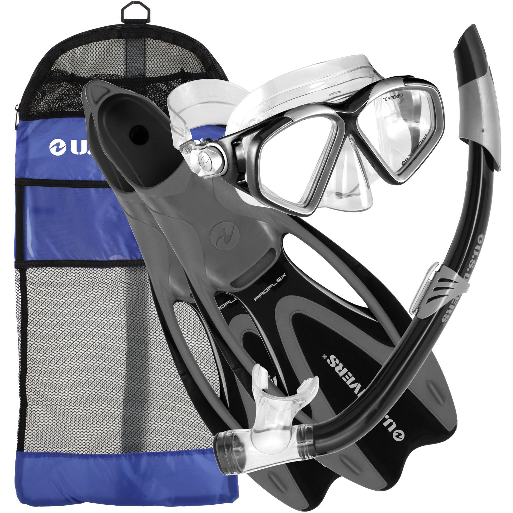 U.S. Divers Cozumel Seabreeze Diving Kit, Black, Medium/Large