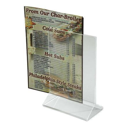 "Acrylic Table Tent Menu/Card Holders - 4"" x 6"""