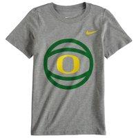 Oregon Ducks Nike Preschool Basketball and Logo T-Shirt - Gray - 7