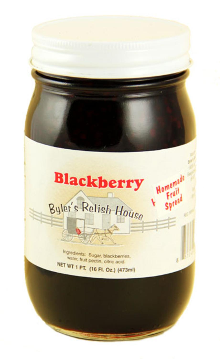 Byler's Relish House Homemade Amish Country Blackberry Jam Fruit Spread 16 oz. by Byler's Relish House