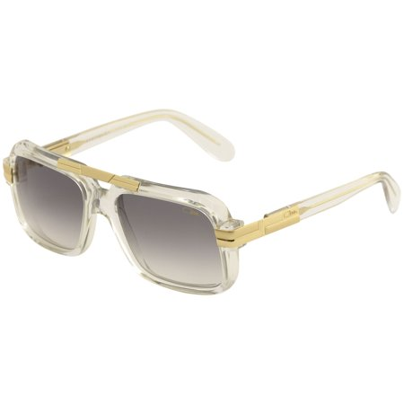 Cazal Legends Men's 663 065SG Crystal/Gold Retro Pilot Sunglasses (Clear Cazal Sunglasses)