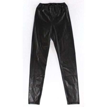 Lauren Ralph Lauren NEW Black Womens Size 12 Faux Leather Leggings (Lauren Leggings)