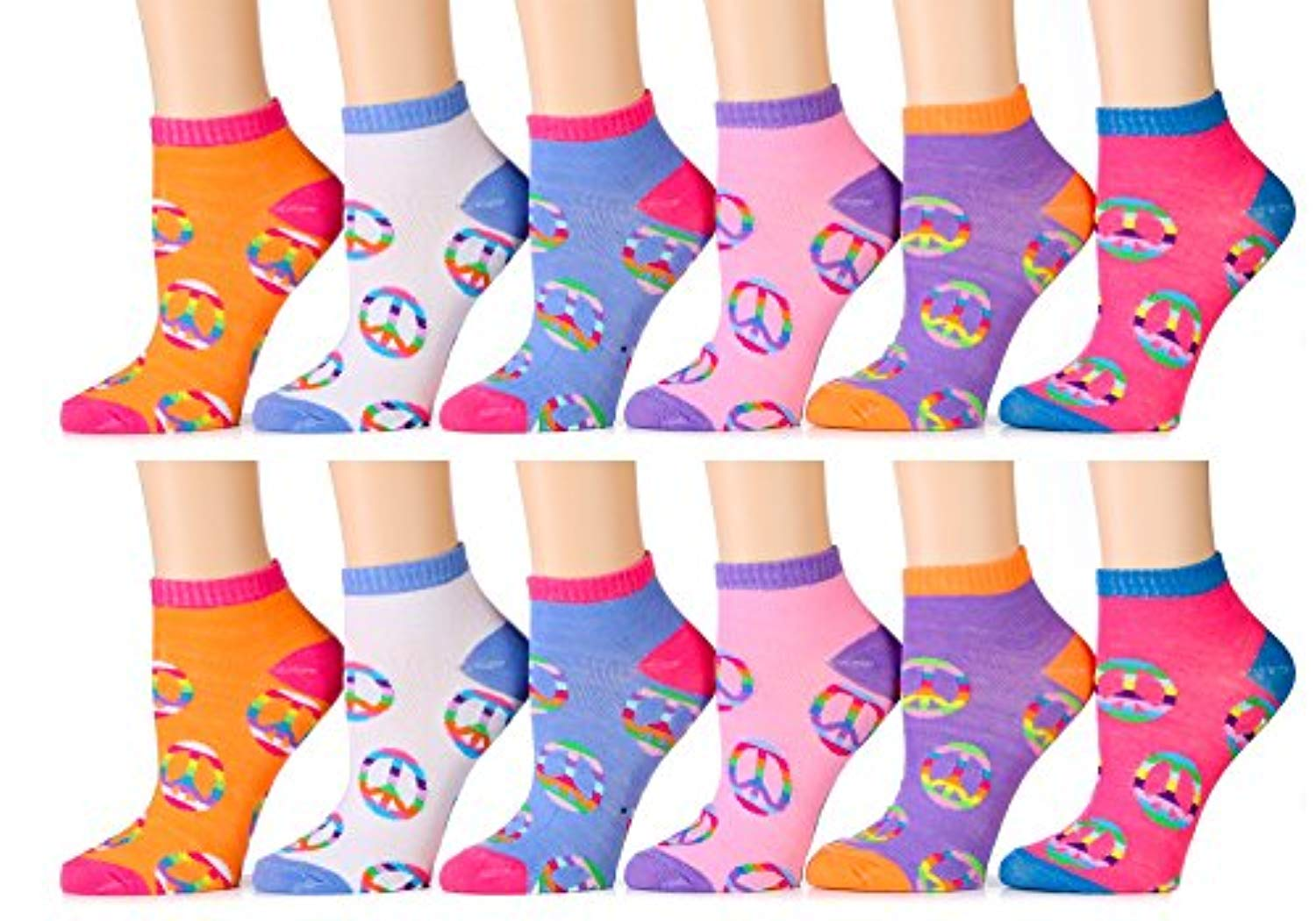 12 Pairs Women Fashion Cotton School Casual Ankle Low Cut Socks Size 9-11 BFLY
