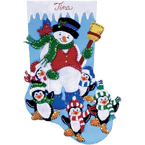 Tobin Stocking Felt Applique Kit, Penguin Party