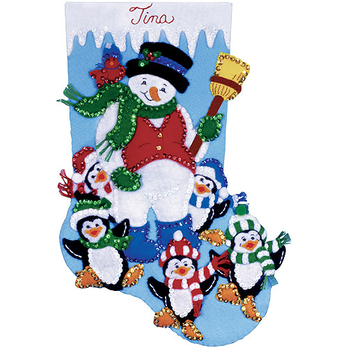 Tobin Stocking Felt Applique Kit, Penguin Party